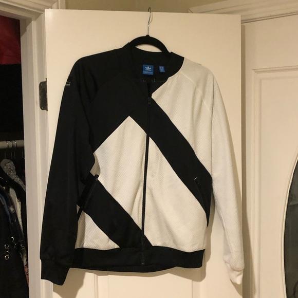adidas Other - Adidas black & white zip-up jacket